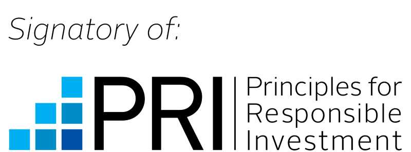 Logo of the UN supported Principles for Responsible Investment (UN PRI).