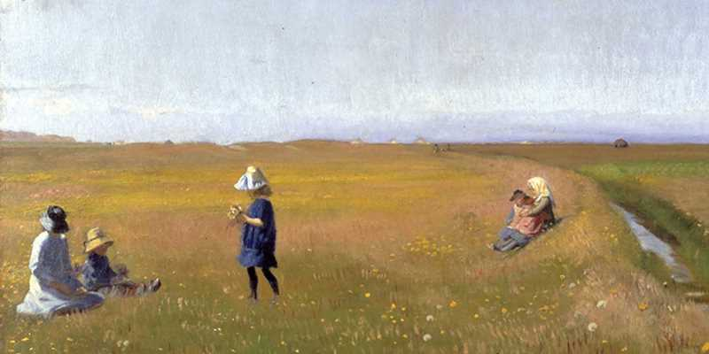 Picture of children in a summer meadow